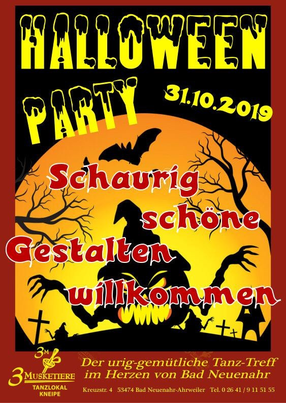 Halloween 2019 Tanzlokal 3 Musketiere